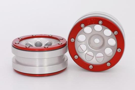 Metsafil Beadlock Wheels PT-Ecohole Silver/Red 1.9 (2 pcs)?