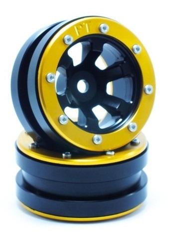 Metsafil Beadlock Wheels PT-Claw Black/Gold 1.9 (2 pcs)