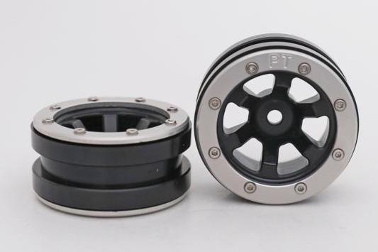 Metsafil Beadlock Wheels PT-Claw Black/Silver 1.9 (2 pcs)?