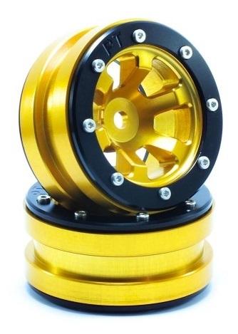 Metsafil Beadlock Wheels PT-Claw Gold/Black 1.9 (2 pcs)