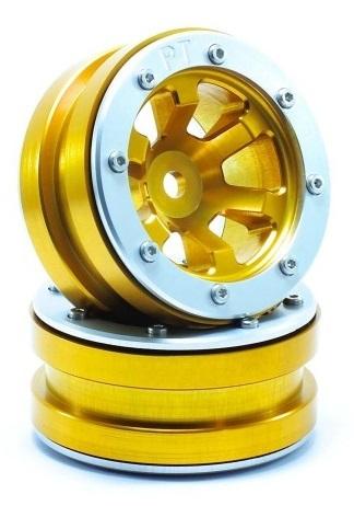 Metsafil Beadlock Wheels PT-Claw Gold/Silver 1.9 (2 pcs)