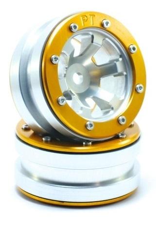 Metsafil Beadlock Wheels PT-Claw Silver/Gold 1.9 (2 pcs)