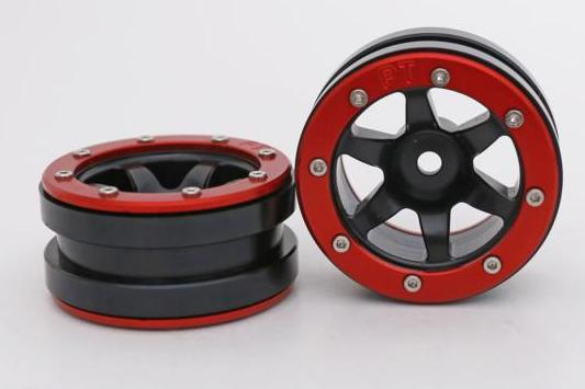 Metsafil Beadlock Wheels PT-Wave Black/Red 1.9 (2 pcs)?