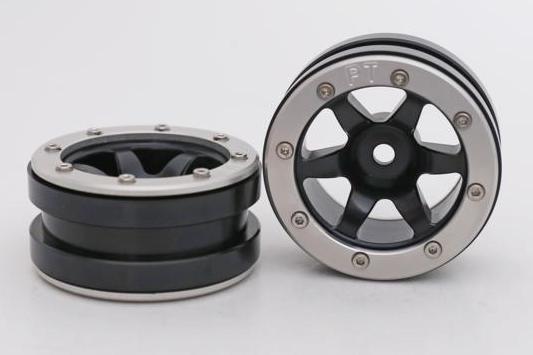 Metsafil Beadlock Wheels PT-Wave Black/Silver 1.9 (2 pcs)?