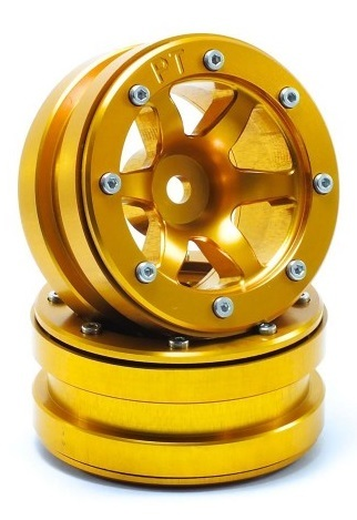 Metsafil Beadlock Wheels PT-Wave Gold/Gold 1.9 (2 pcs)