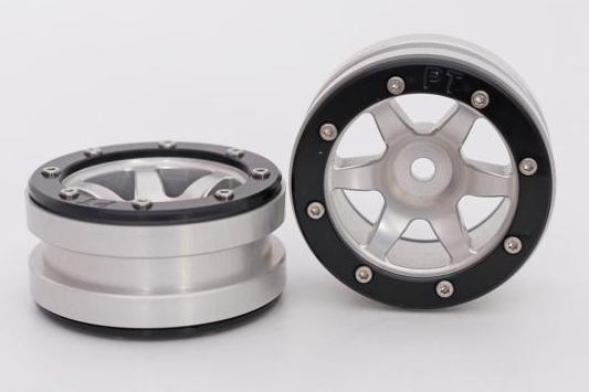 Metsafil Beadlock Wheels PT-Wave Silver/Black 1.9 (2 pcs)?