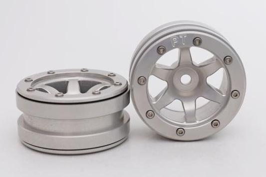 Metsafil Beadlock Wheels PT-Wave Silver/Silver 1.9 (2 pcs)?