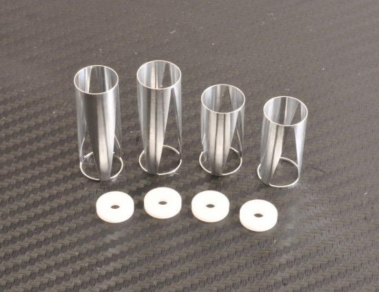 Absima Shock inlay and shock piston f/r (2) 12mm Big Bore shocks
