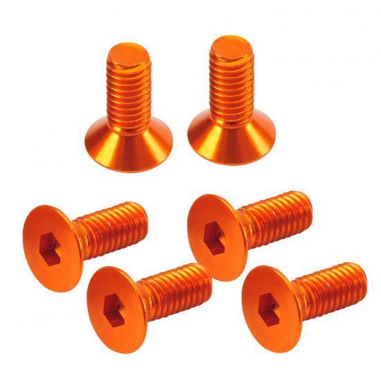 Absima Flat Head Hex Screw orange 3x8mm (6)