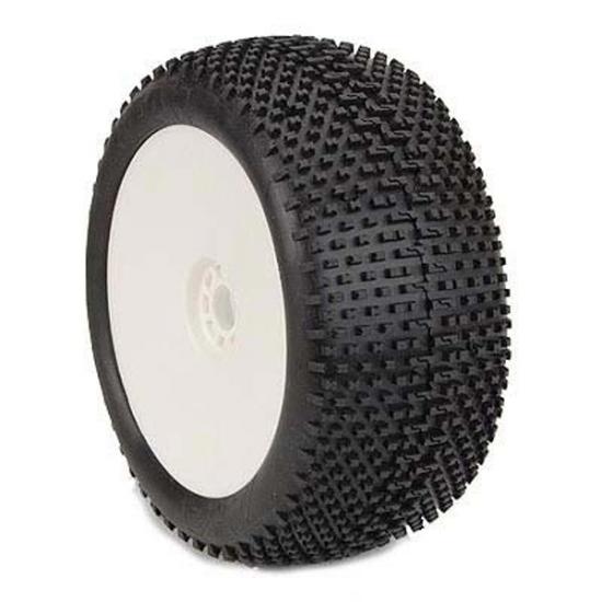 AKA 1:8 Truggy Tyres On Evo White Rims I-Beam Soft (2)