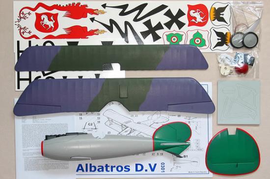 Alfa Model Albatros D.V Upper Wing