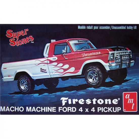 "AMT 1:25 1978 Ford Pickup "" Firestone Super Stones"""