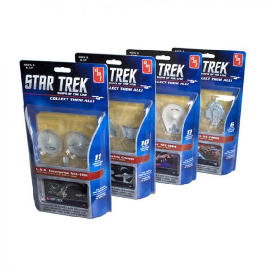 AMT 1:2500 Star Trek - Ships of the Line Assortment (Ship 1-4) SNAP (Assorted carton is as follows: 4 USS Enterprise parts, 4 USS Reliant, 2 USS Defiant, 2 D-7 Battle Cruiser)