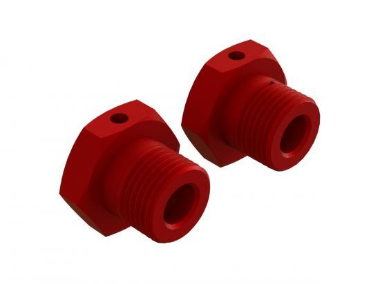 ARA310904 Aluminum Wheel Hex 17mm Red (2)