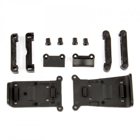 Associated Reflex 14B/14T Skid Plates And Arm Mounts Set