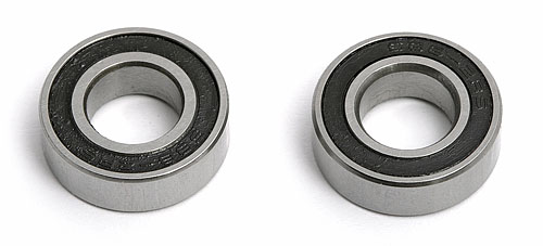 8 X 16 X 5 Ball Bearings (2) Rubber Sealed