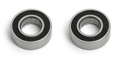 6 X 12 X 4 Ball Bearings (2) Rubber Sealed