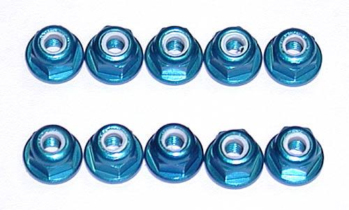 FT 3mm (M3) Locknut - blue aluminum