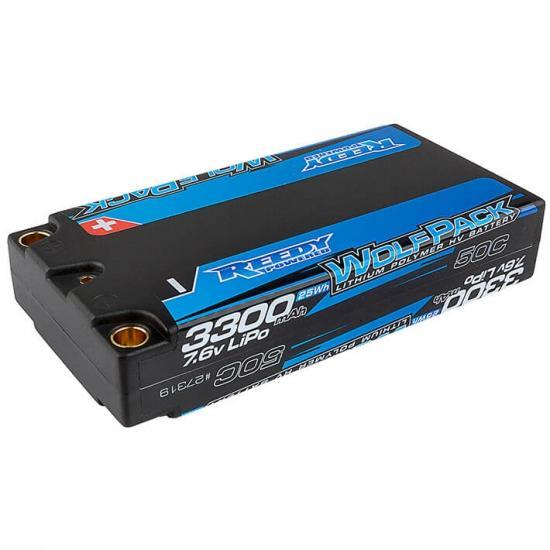 Reedy Wolfpack Hv-Lipo 3300Mah 50C 7.6V Lipo Lp Shorty