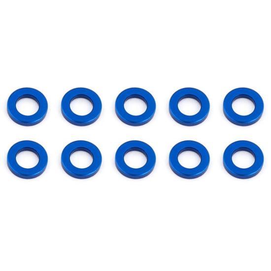 Associated Ballstud Washers 5.5 X 1.0mm Blue Aluminium X10
