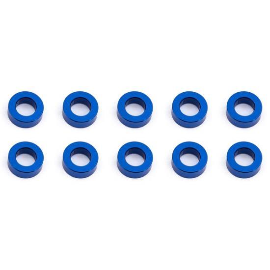 Associated Ballstud Washers 5.5 X 2.0mm Blue Aluminium X10