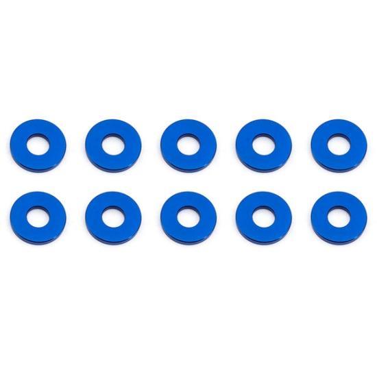 Associated Bulkhead Washers 7.8 X 1.0mm Blue Aluminium X10