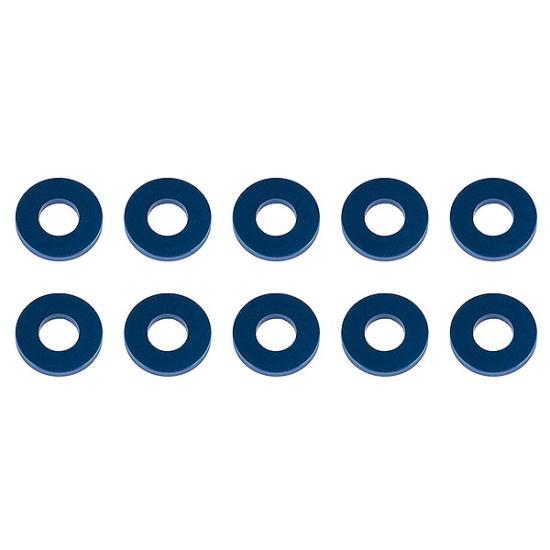 Associated Washers 7.8 X 3.5 X 1.0mm Blue Aluminium (10)