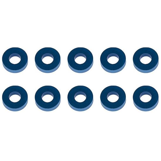 Associated Washers 7.8 X 3.5 X 2.0mm Blue Aluminium (10)