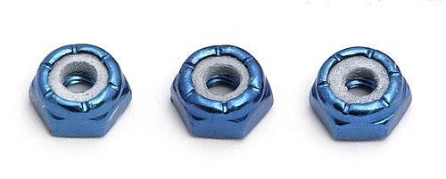 8-32 Blue Aluminum Low Profile Locknut (pk 3)
