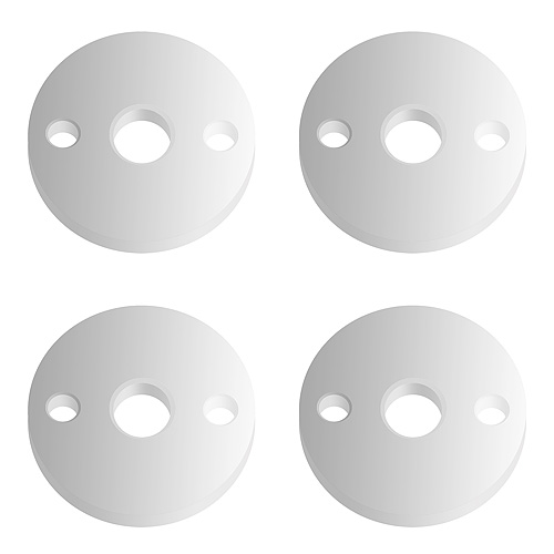 Associated 12mm Big Bore Ft Pistons 2 Hole X 1.6mm (Flat)