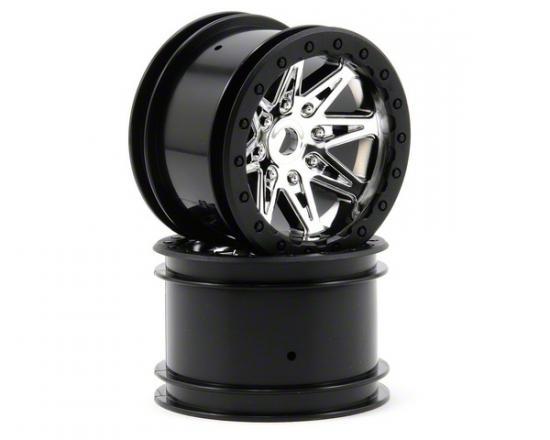 Axial 2.2 Raceline Renegade Wheels - 41mm Wide (Chrome) (2pcs)