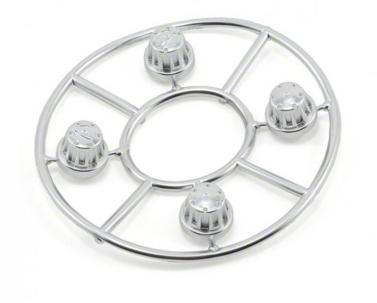 Axial Hub Cover Set - Satin Chrome (4pcs)