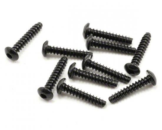 Axial M3x15mm Hex Socket Tapping Button Head (Black) (10pcs)