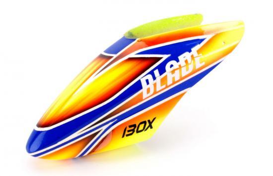 Blade 130X Fibreglass Canopy Orange/blue ** CLEARANCE **