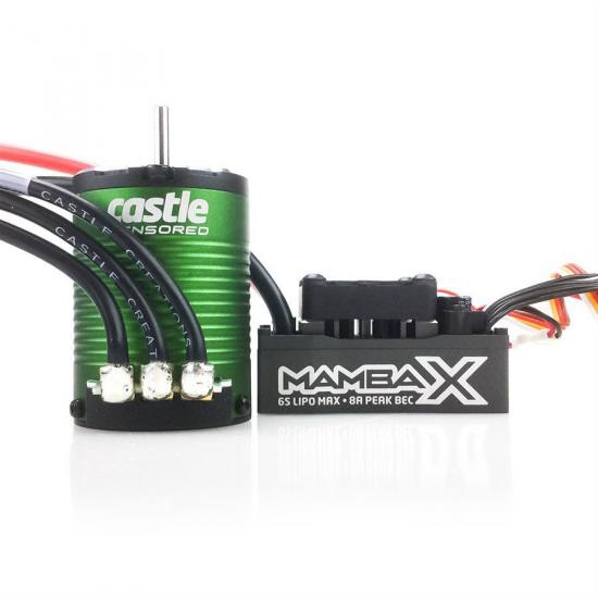Castle Creations Mamba X Extreme 1:10 ESC Sensored Combo With 1406-5700Kv Motor