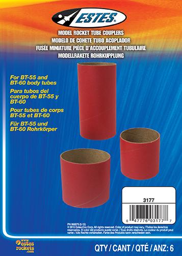 BT55 - BT60 Body Tube Couplers (6 pc)
