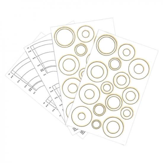 Laser Cut Centering Rings and Paper Adapters (4 pc)