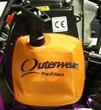 EG180 Outerwears Pull Start Pre Filter - Fits HPI Baja 5B And FG Range - Black