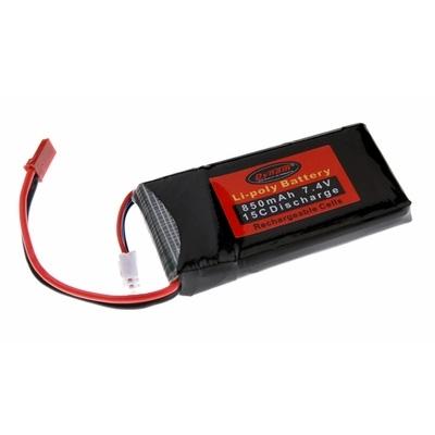 Dynam 7.4V 850Mah 15C Lipo Battery (Mini P51D)