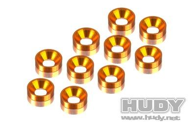 Hudy Alu Countersunk Shim - Orange (10)