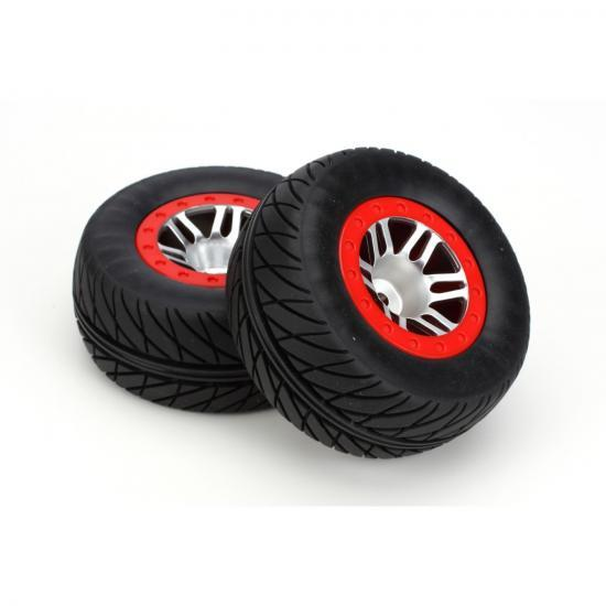 Dynamite SpeedTreads Robber SC Tyres Mounted on Slash Front Wheels (2)