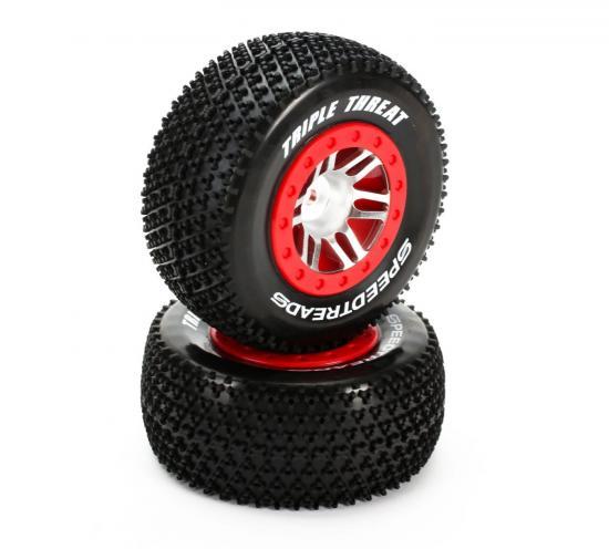 Speedtreads Triple Threat SCT Mounted Tyre for Slash (2)