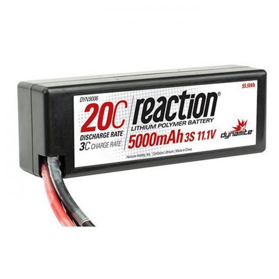 Dynamite Reaction Hard Case LiPo - 11.1V 3S 5000mah 20C - Deans