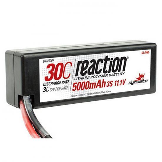 Dynamite Reaction Hard Case LiPo - 11.1V 3S 5000mah 30C - Deans
