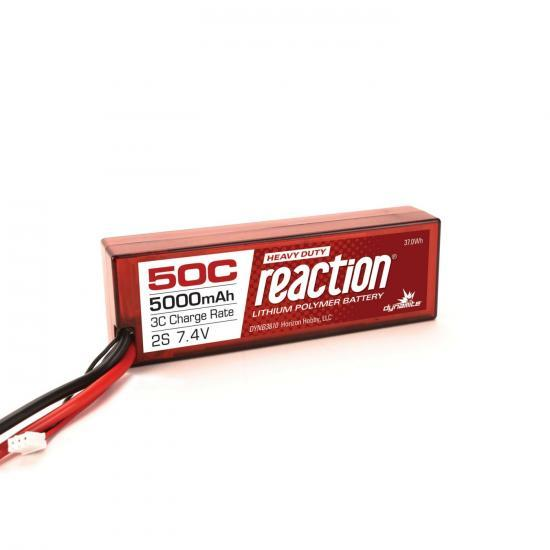 Dynamite Reaction Hard Case HD LiPo - 7.4V 2S 5000mah 50C - EC5