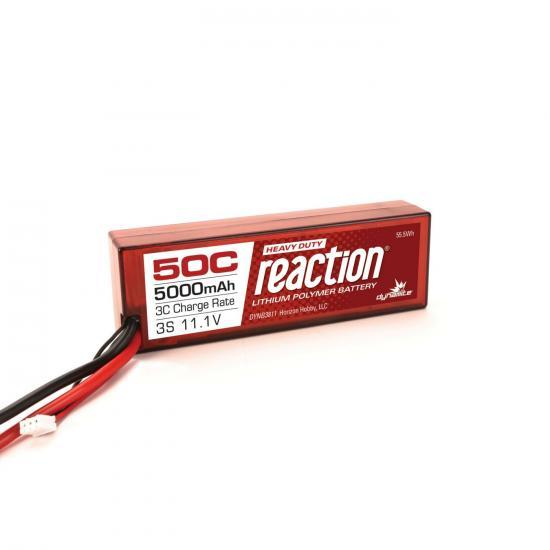 Dynamite Reaction Hard Case HD LiPo - 11.1V 3S 5000mah 50C - EC5
