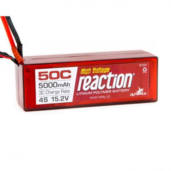 Dynamite Reaction Hard Case HV LiPo - 15.2v 4S 5000mAh 50C - EC5