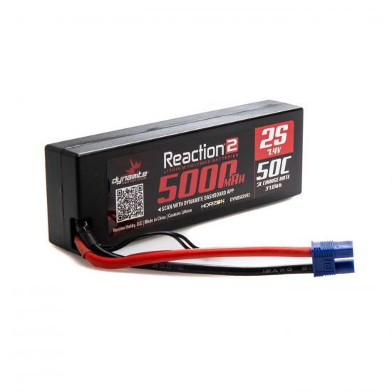 7.4V 5000mAh 2S 50C LiPo - Hardcase: EC3