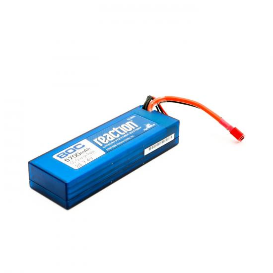 Dynamite Reaction Hard Case LiPo - 7.4V 2S 5700mah 80C - Deans