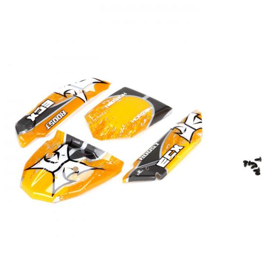 Body Set Decorated Orange/Grey: 1:24 Roost